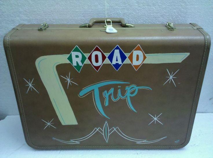 Vintage Taperlite Suit Case / Custom Hand Painted / Pin Striping / Hot Rat Rod #Taperlite