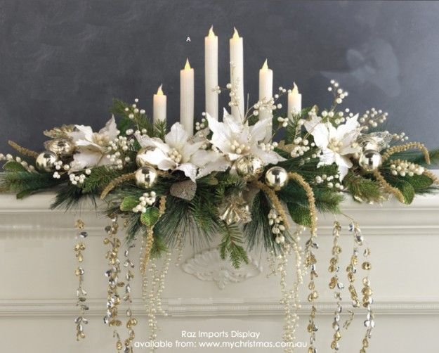 How to make a Christmas garland for your mantel or table