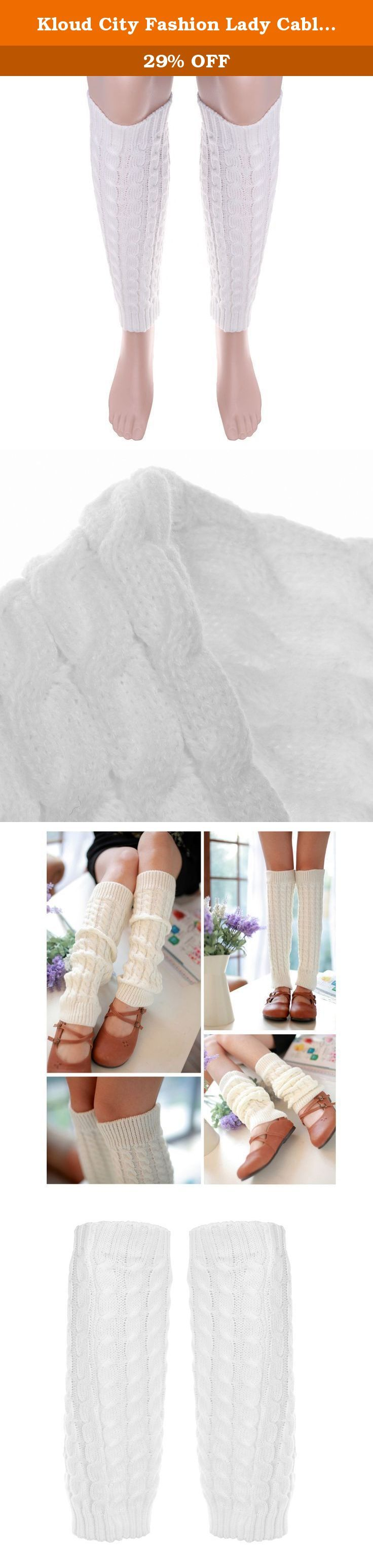 """Kloud City Fashion Lady Cable Knit Dance Leg Warmer Knee High Crochet Boot Cuff. Leg warmers are versatile and can be pulled down for a scrunched sock look Unstretched specification: 16"""" (L)X3"""" (W), soft and elastic, It's very warm and the design is keep up with the fashion Perfect accessory for the winter season when you go outside Ideal for cold weather to keep your legs warm at home at the gym or at winter sports Great to pair with tights, jeans, pumps, flats or boots, especially for..."""