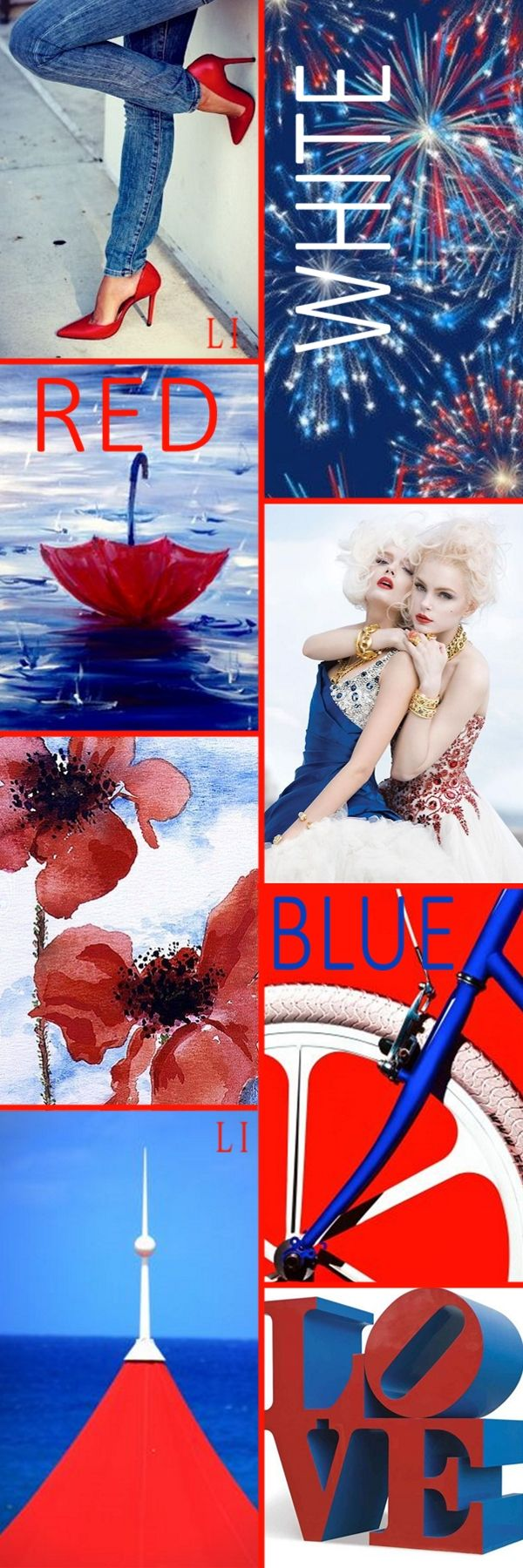 Red White Blue ღ Lu S Inspiration Color Boards