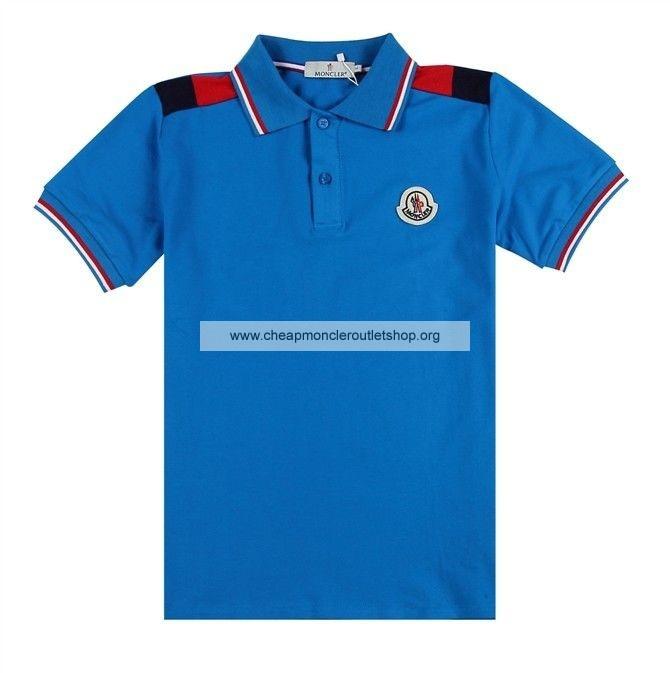 Moncler Men T Shirt Blue