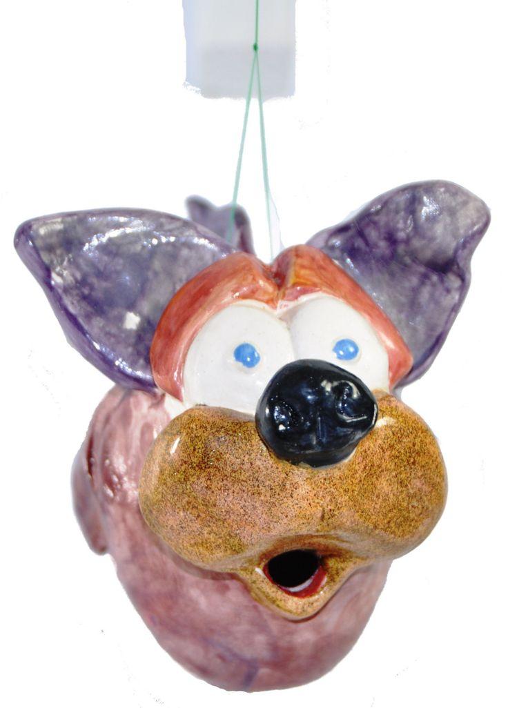 Matteo pesce cane scultura in ceramica artistica da collezione italdesign fogliaro - arte ceramica italiana - surrealismo arte moderna di ITALDESIGNFOGLIARO su Etsy