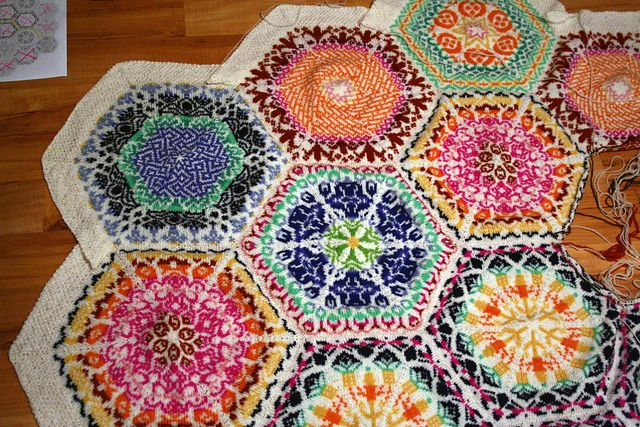 femininebydesign's Persian blanket in progress.  Can't wait to see the final result!