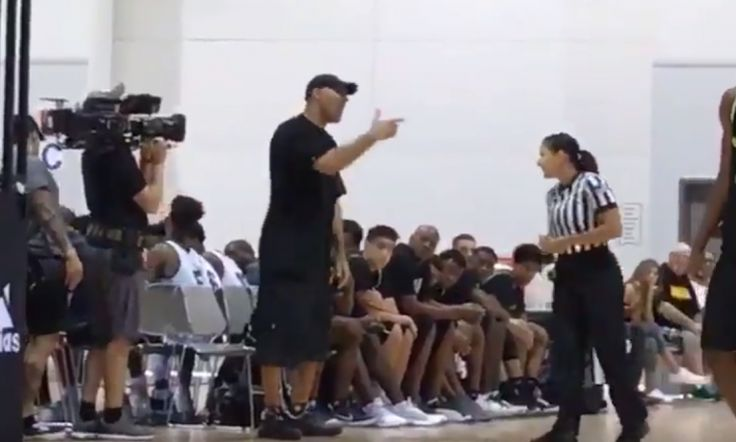"""LaVar Ball forces Adidas to replace ref mid-game, then gets ejected, AAU game called off. LaVar Ball was given a technical foul for arguing heatedly with a ref. He then lobbied Adidas, the event organizers, to replace the female ref. ESPN's Myron Medcalf reported that Adidas had been pressuring referees to refrain from giving LaVar technicals """"because of his drawing power and [Adidas's] potential courtship of Los Angeles Lakers rookie Lonzo Ball,"""" LaVar's son. Clear case of testosterone…"""