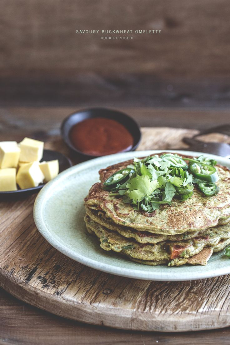 Savoury Buckwheat Omelette - Cook RepublicNewspaper Columns, Savoury Buckwheat, Foodies, Buckwheat Omelettes, Breakfast, Cookbooks, Olive Gardens, Food Recipe, Cooking Republic