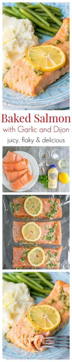 Our Favorite Baked Salmon Recipe - juicy, flaky and super delicious. A 5-Star recipe!! | natashaskitchen.com #seafoodrecipes