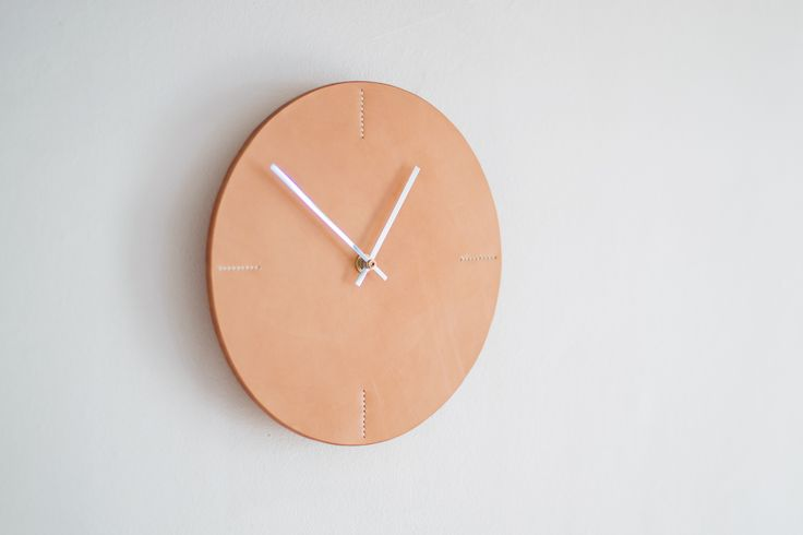 Vegtan Leather Wall Clock
