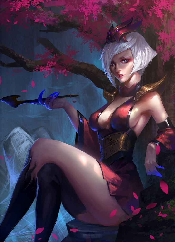 league-of-legends-sexy-girls:   Elise - league of legends & anime