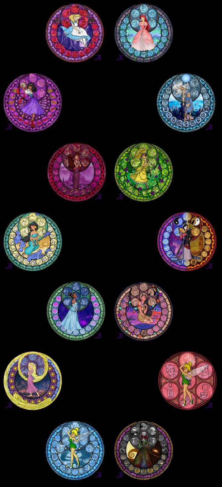 Disney Stained Glass Art Wallpapers 31 Disney Princess