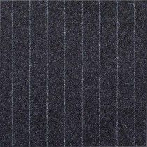 Polyester Viscose Stripe Stretch Suiting Fabric Charcoal Stripe 138cm