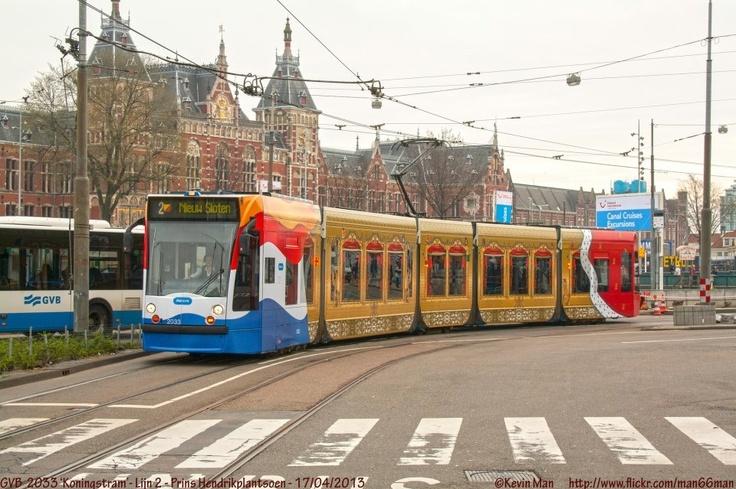 Kings tram in Amsterdam