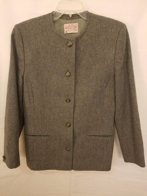 24.19$  Buy here - http://vigcn.justgood.pw/vig/item.php?t=wh4ij318899 - Pendleton Petite Blazer Jacket 5-Button Gray Wool Career USA Womens Size 8 24.19$