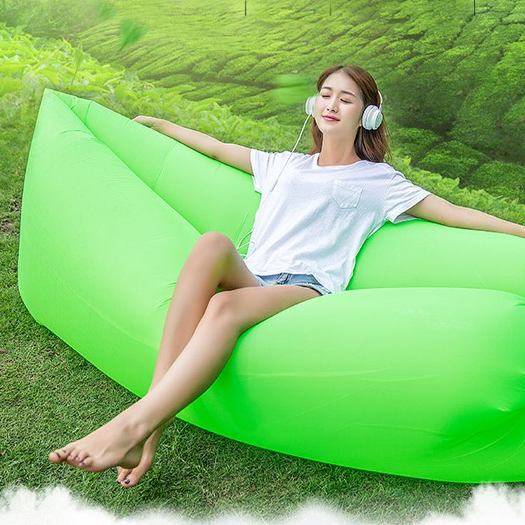 Rapid inflation Sofa Inflatable Camping Sleeping lamzac Banana  Hangout fest lazy Nylon put Air Bed Sofa Lounger chair beach mat #jewelry, #women, #men, #hats, #watches, #belts, #fashion