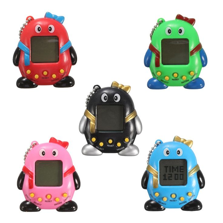 5 Colors  Hot Sale Mini Plastic Electronic Digital  Pet Penguins Funny Toys Handheld Game Machine For Children Gift