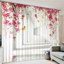 Плоские Окна Декорации 3D Плотными Шторами Для гостиной Украшения Полный Света Затенения Шторы Шторы пункт сала(China (Mainland))