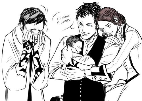 Clockwork princess - Jem, Will & Tessa I'm pretty sure I cried when they mentioned his reaction.