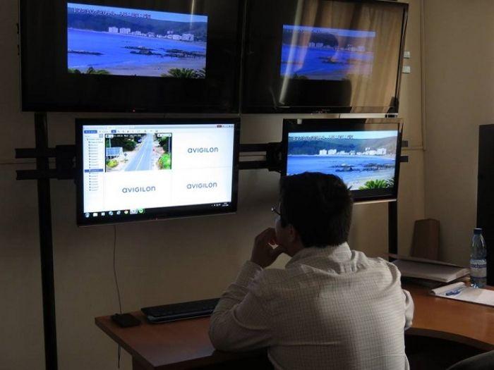 Papudo actualiza sistema de cámaras de televigilancia, Danilo Moreira Avigilon