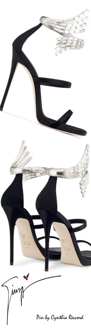 Giuseppe Zanotti Design | Crystal Anklet Sandal | SS 2017 | cynthia reccord #giuseppezanottiheelszapatos