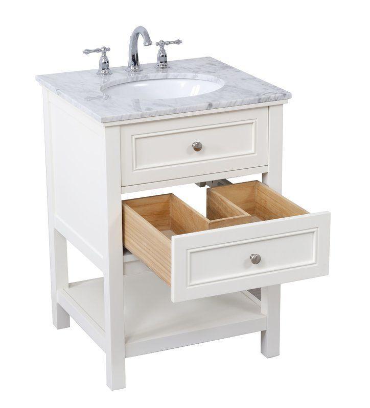 Longshore Tides Melissa 24 Single Bathroom Vanity Set Wayfair 24 Inch Bathroom Vanity Single Bathroom Vanity White Vanity Bathroom