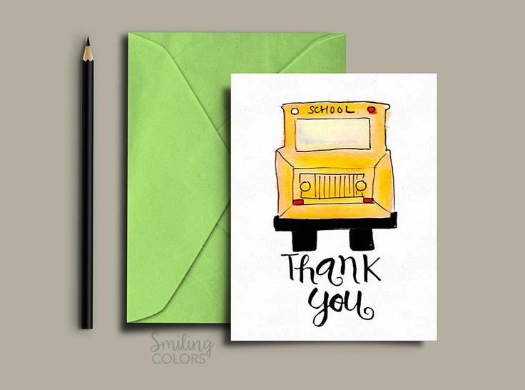 Bus driver thank you card FREE printable @smithakatti