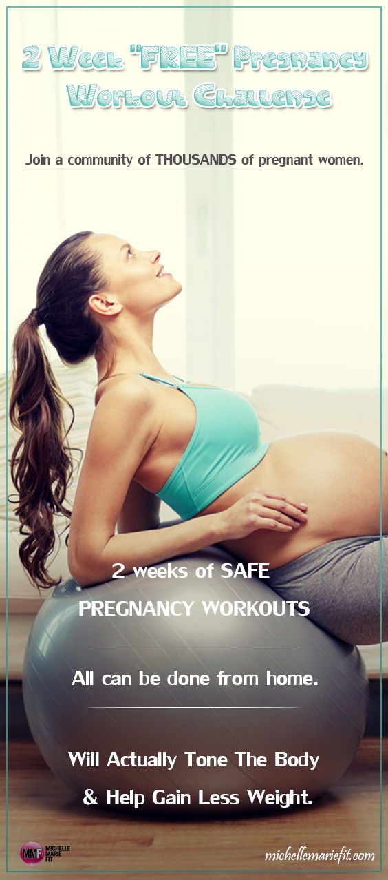 b1f63930951 The motivation and guidelines you need to start exercising during pregnancy.  14 Day Jumpstart Pregnancy Workout ChallengeDaily workouts and motivation.