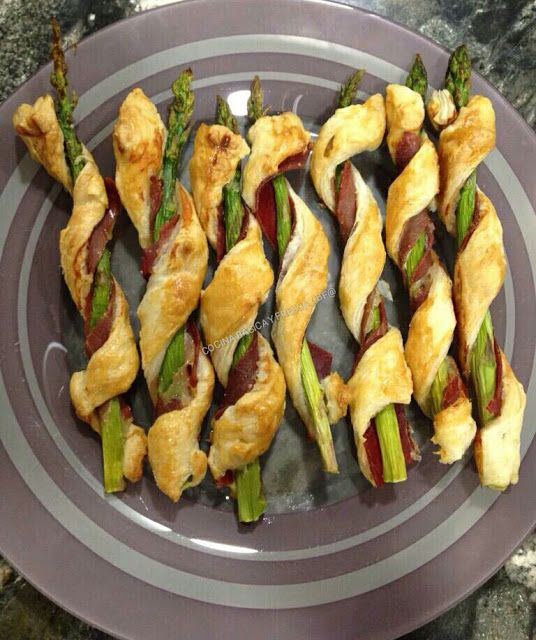 Cocina Basica y Fresca: HOJALDRES DE JAMON Y TRIGUEROS CBF@