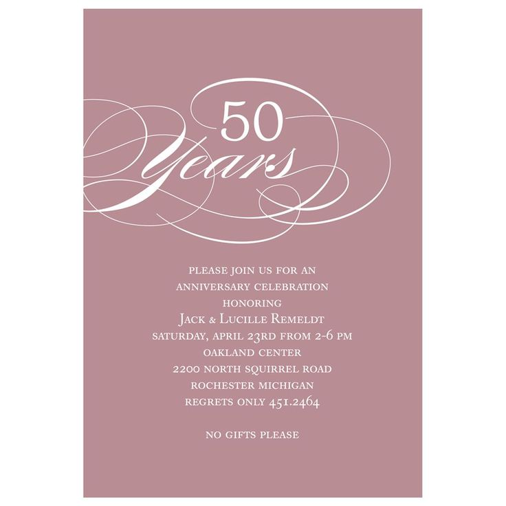 Classy Script and Colorful Anniversary Party
