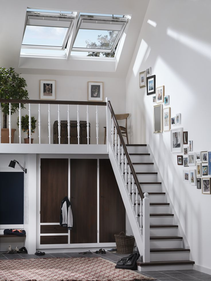 Invite Natural Light Inside And Brighten Up Your Staircase Gallery!  #Roofwindows Create Natural Ventilation