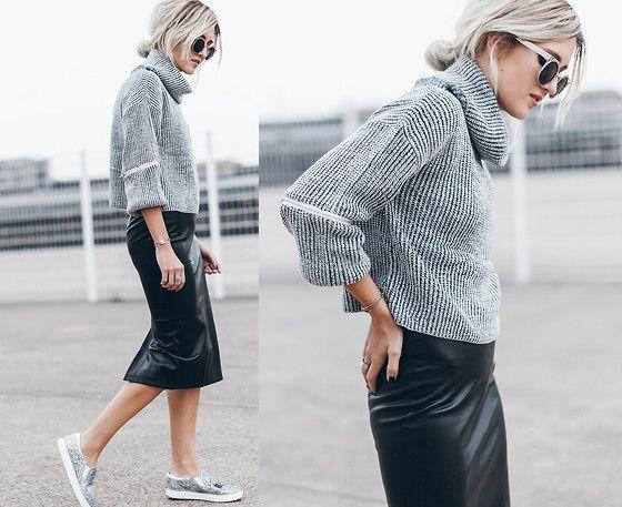 Mikuta - Verge Girl Sweater, Verge Girl Skirt, Circus By Sam Edelman Shoes, Zerouv Sunglasses - SOFT & HARD