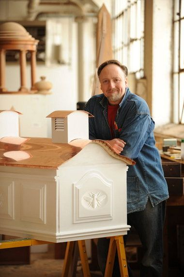 Fancy made-in-Cleveland beehives. Does he  also make bird feeders and birdhouses?