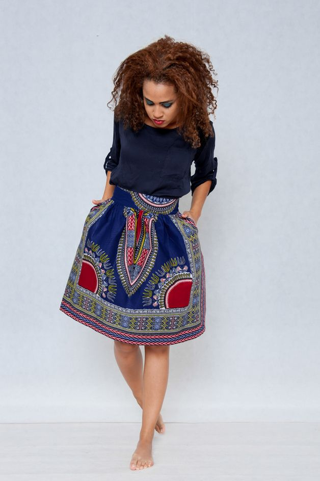 Ballonrock mit afrikanischem Muster, Ethno Stil / beautiful skirt, african ethno style by KOKOworld via DaWanda.com
