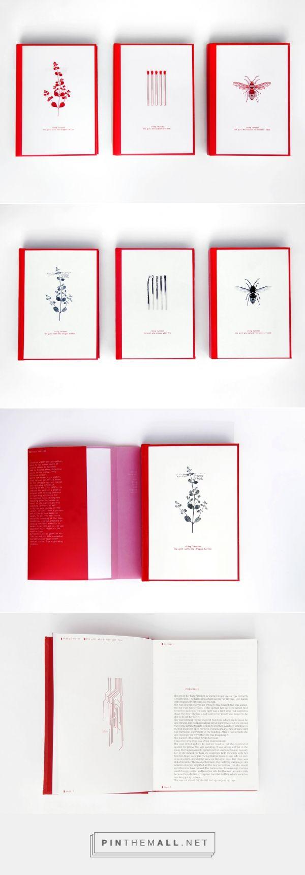 Stieg Larsson, Millenium trilogy | book design on Behance - created via https://pinthemall.net