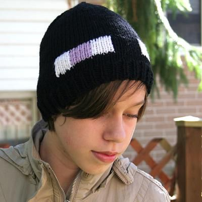 Enderman hat : free pattern at www.knitca.com