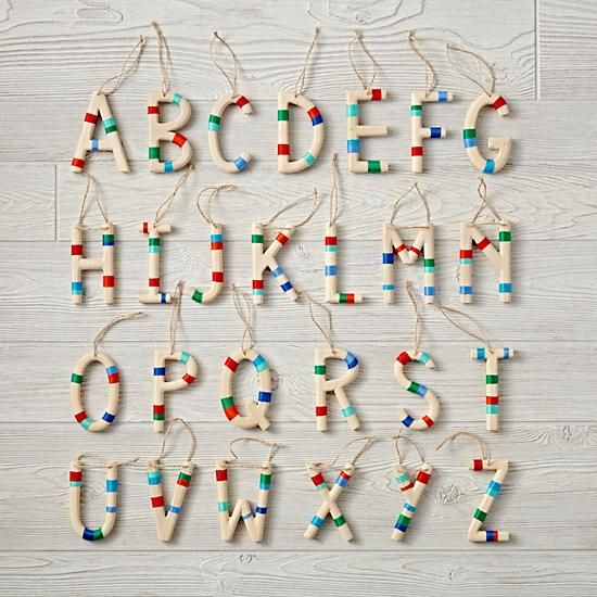 shop wooden letter ornaments add a pop of color to the holiday season with our