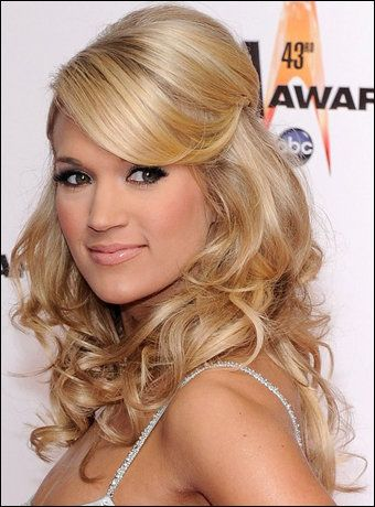 half up wedding hairstyles medium hair prom hair idea