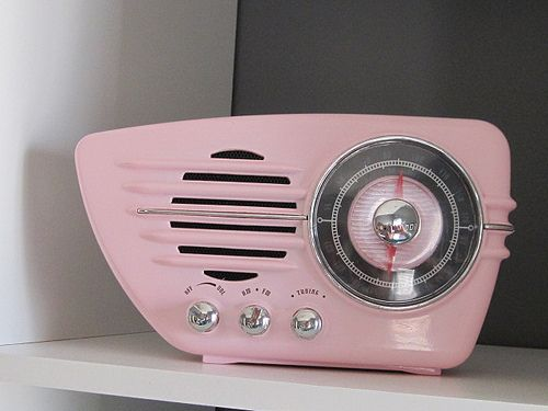 pink vintage a.m. radio | Recent Photos The Commons Getty Collection Galleries World Map App ...