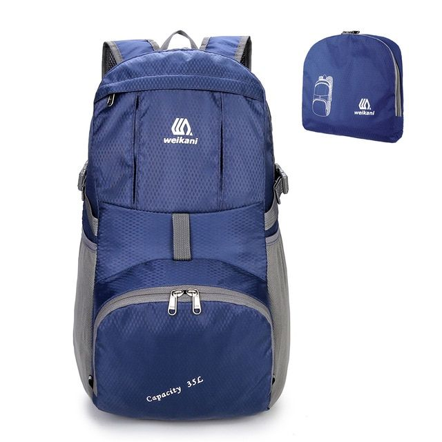 a62a3005099c Weikani Lightweight Nylon Foldable Backpack Waterproof Outdoor ...