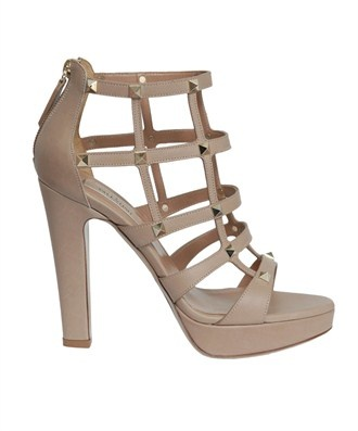 Valentino - Rock Stud leather sandal with plateau: Valentino Rockstud, Plateau 360, Rockstud Leather, Leather Sandals, Sandals Fashion