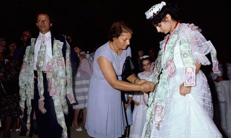 Instead of wedding gifts - Pin money to the bride & groom - like the traditional Greeks do :)