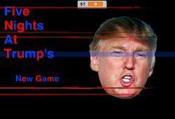 El presidente Donald Trump se ha transformado en un animatronic y ahora debes neutralizarlo antes que sea demasiado tarde. Vigila por las cámaras de seguridad al presidente de los EEUU para detenerlo antes que te de un buen susto de muerte. Si te apasionan los juegos de Five Nights at Freddys, no dejes pasar esta oportunidad.