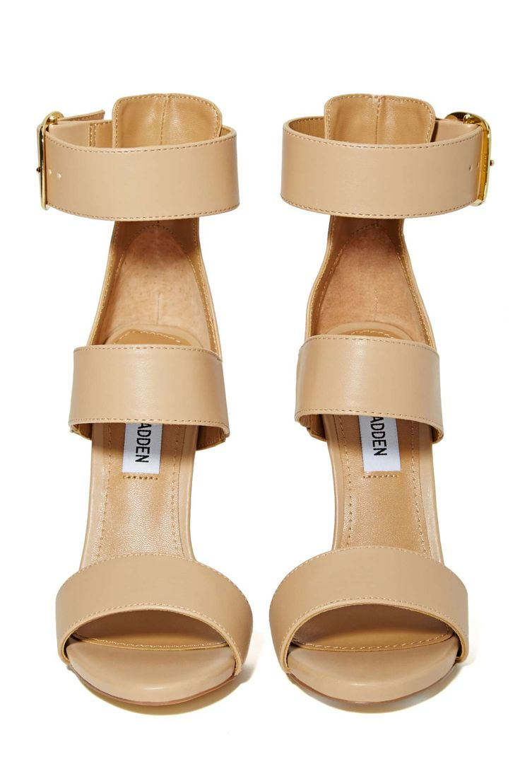 Gold Buckle Heels