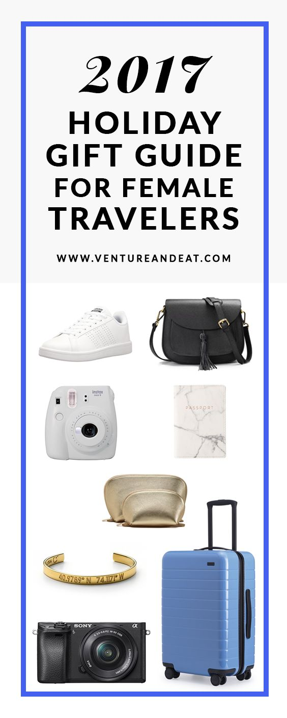 Holiday Gift Guide | Gifts for travelers | Gift Ideas | Presents | Searching for the perfect gift for the female traveler in your life? These gifts are sure to wow this holiday season, whether it's for Christmas, Hanukkah or another holiday that you celebrate!