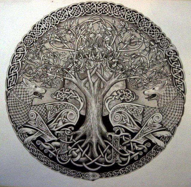 Irlanda, Nação Celta... Árvore Da Vida, Lua Cheia e Lobos...