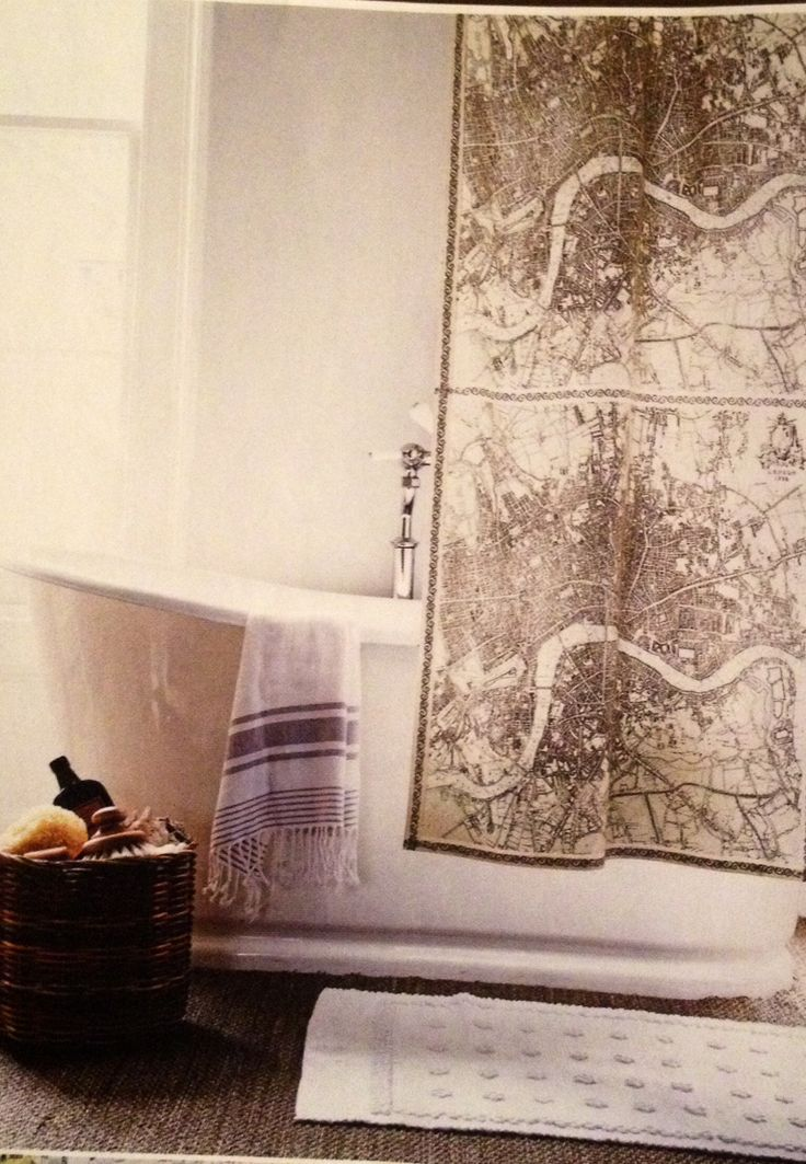 Map Shower Curtain Home Pinterest Curtains Shower Curtains And Maps