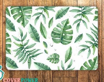 Tropical Leaves Laptop Skin Notebook Vinyl Decal Dell Hp Lenovo Asus Acer Laptop Sticker Decal Skin Cover Skins For Any Laptop Sticker MB324