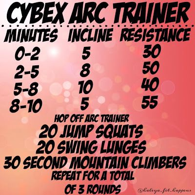 CYBEX ARC TRAINER/cardio workout