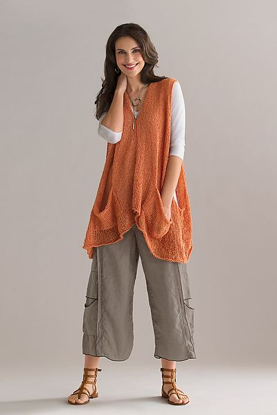 Simply Stated: Vector Vest: Amy Brill: Knit Sweater - Artful Home