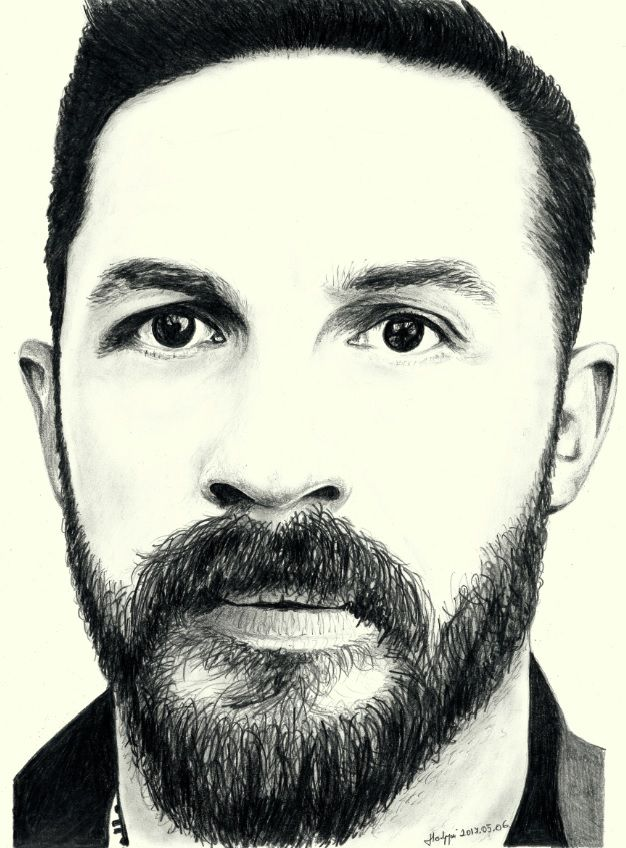 tom hardy pencil portrait drawing