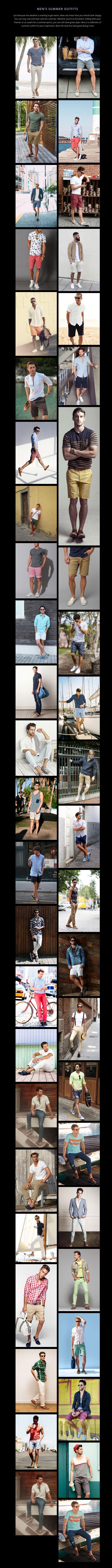 Men's Summer Outfits alinah miriyum