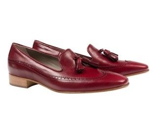 'Finn' red loafer - ladies flats at habbot. #inhabbot #shoes  www.habbotstudios.com